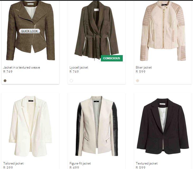 hm jackets