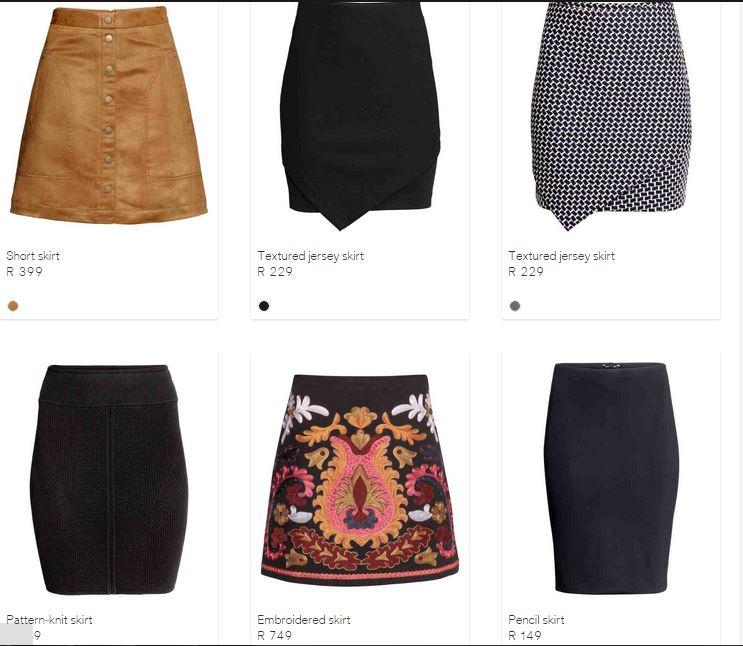 hm skirts
